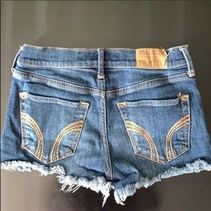Hollister jean shorts size 0